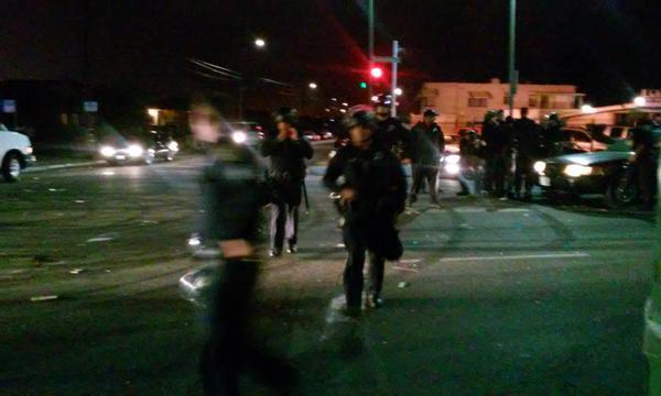 Oakland police shut down International Blvd. Photo @hyphy_republic