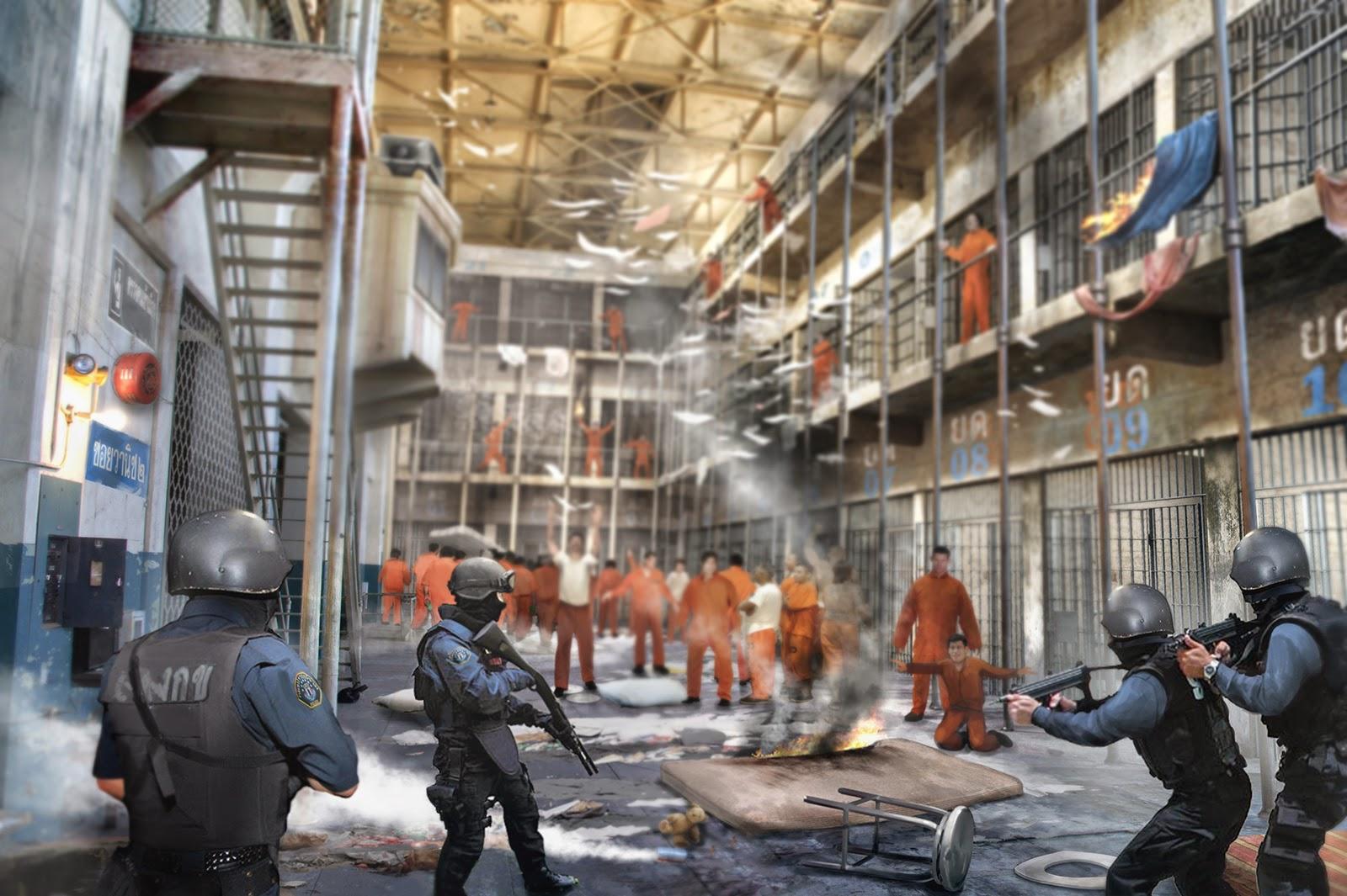 Voir Mosaic... et mourir [Starfire] Prison-riot
