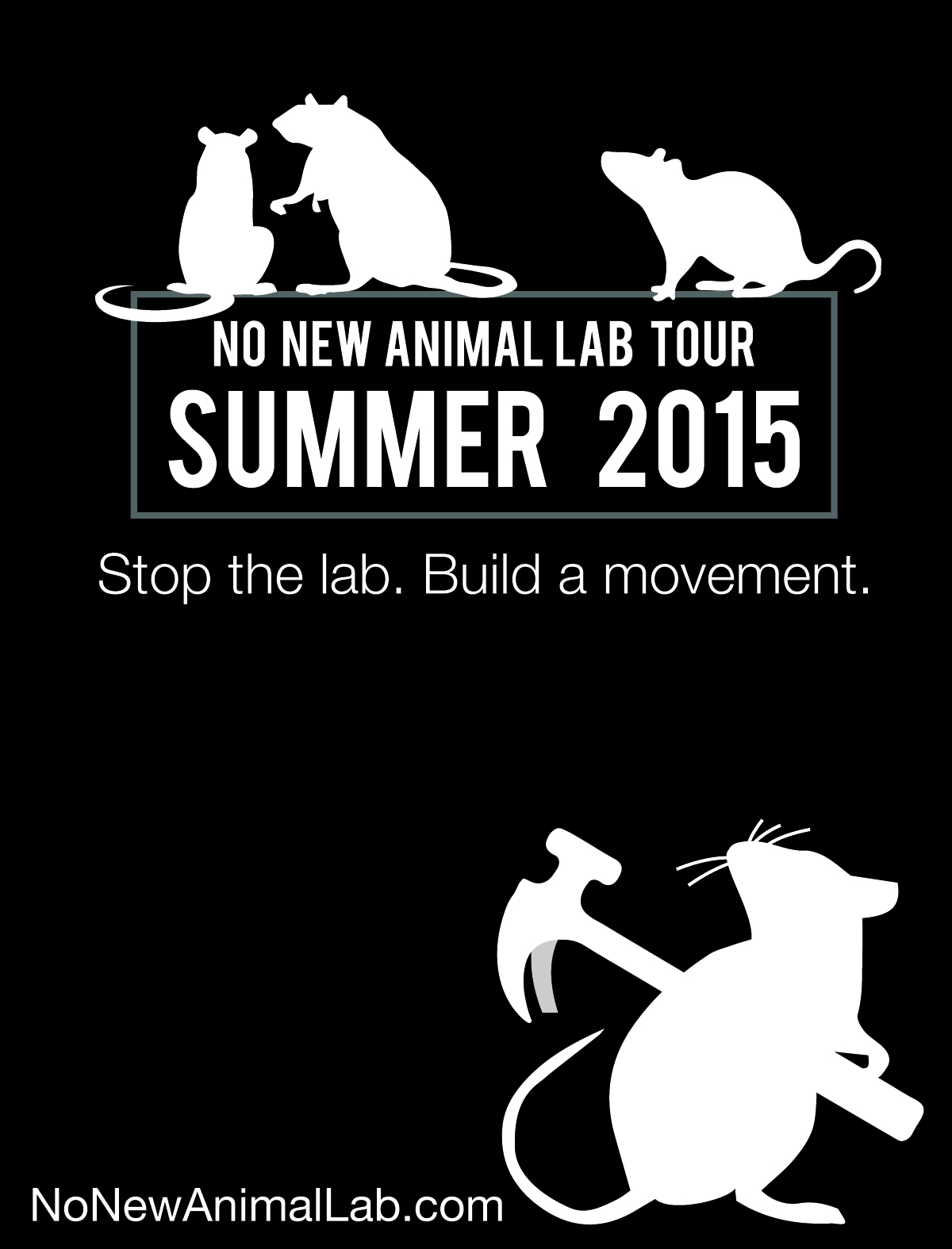The no new animal lab tour has begun