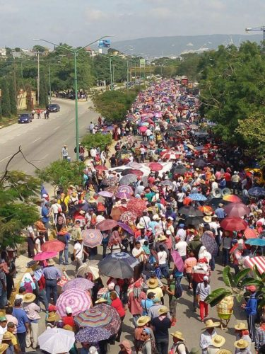August 3 march in Tuxtla Gutiérrez, Chiapas.