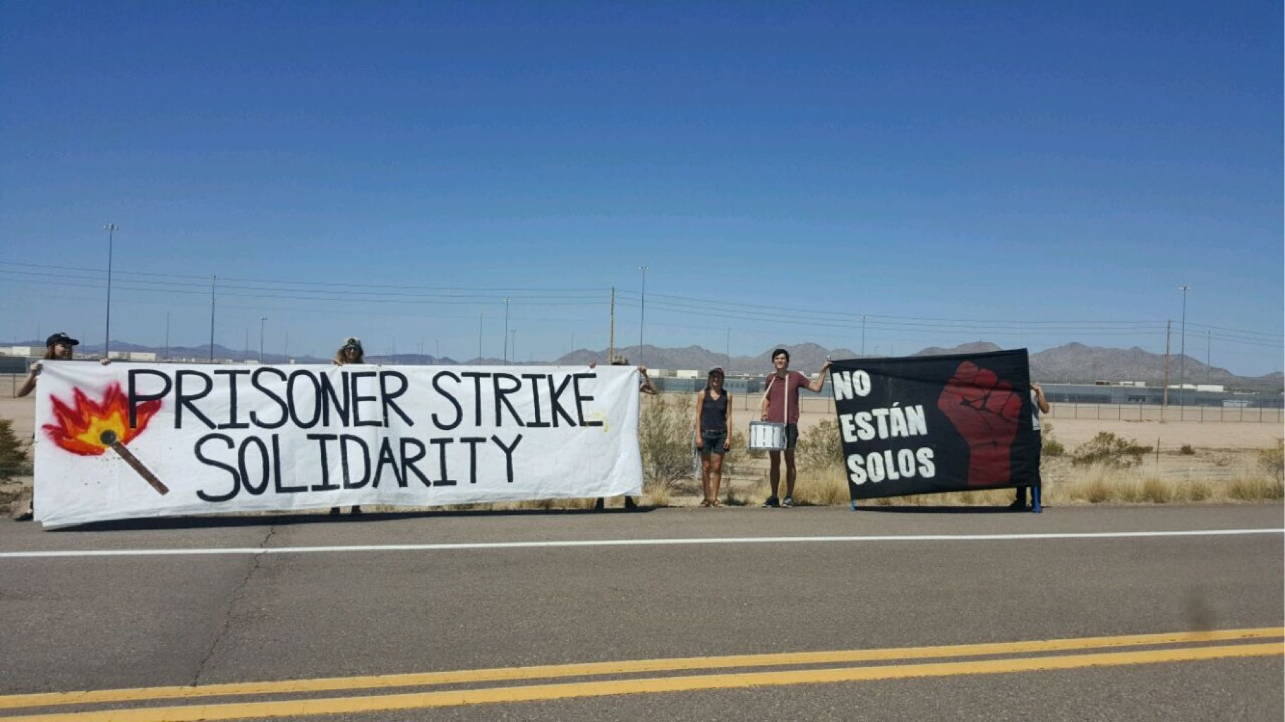 Rally outside of ASPC Lewis near Buckeye, AZ