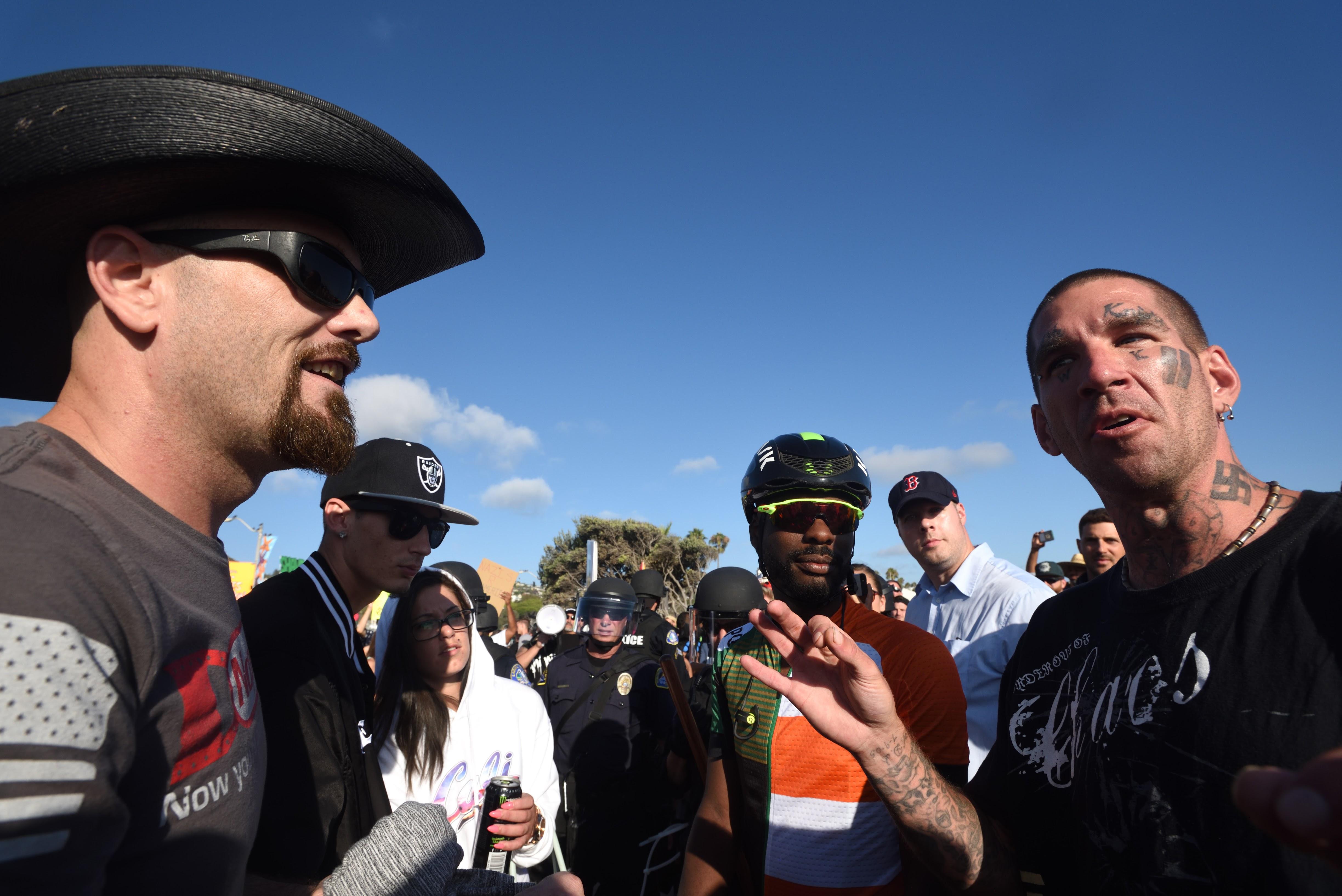 Alt Right Rally In Laguna Beach Ca