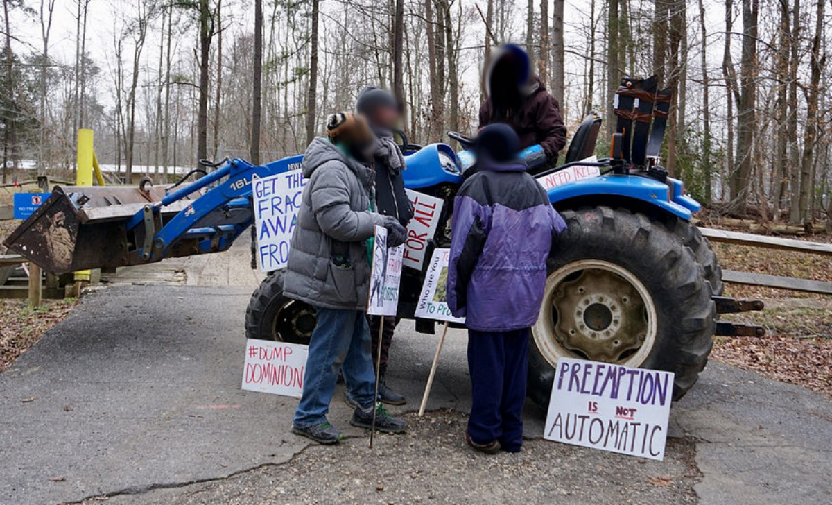 Maryland lockdown against dominion energy clearing trees for Domon power release