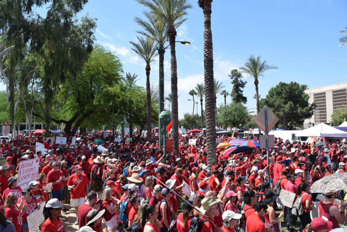 Audio Report: Arizona Teachers Bring the Heat - It's Going Down