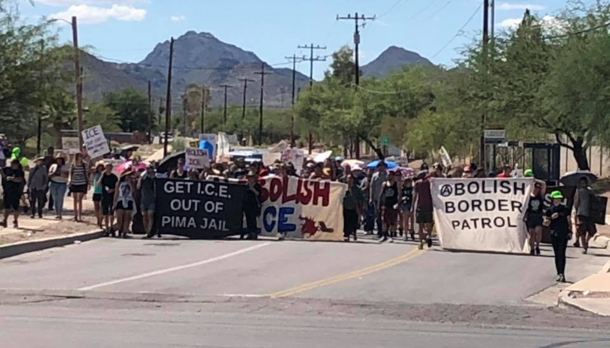 Tucson Jail Blockaded During