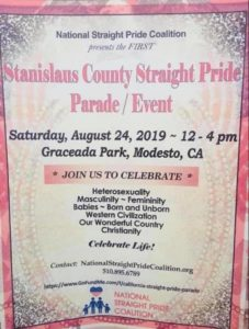 Modesto Group Calling for Straight Pride Parade &