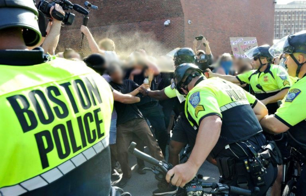 This Week In Fascism 25 Boston Cops Riot Attack Protesters It S Going Down