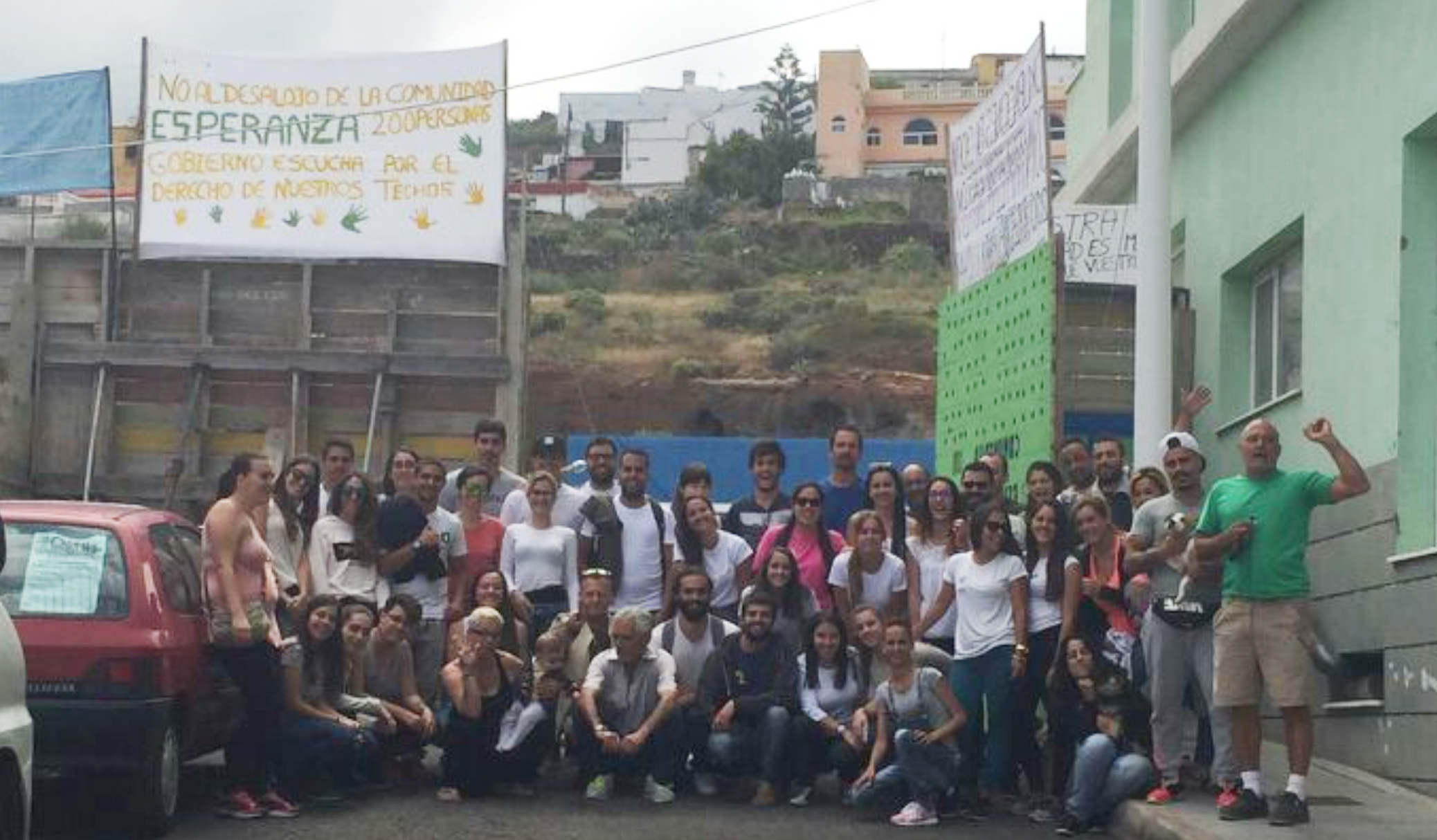 Esperanza, a self-managed occupation in Gran Canaria spanning four city blocks and home to 200+ people.